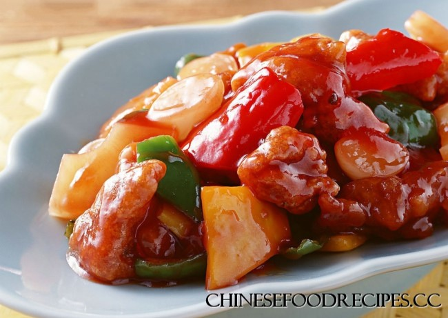 Sweet and sour pork - Chinese Food Recipes